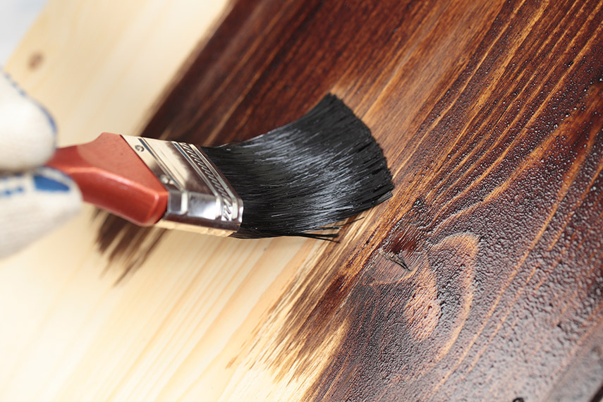 tinte para madera como cafe